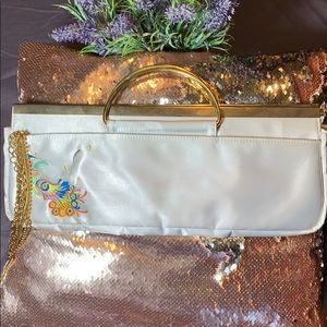 Transversion Silver and gold clutch purse